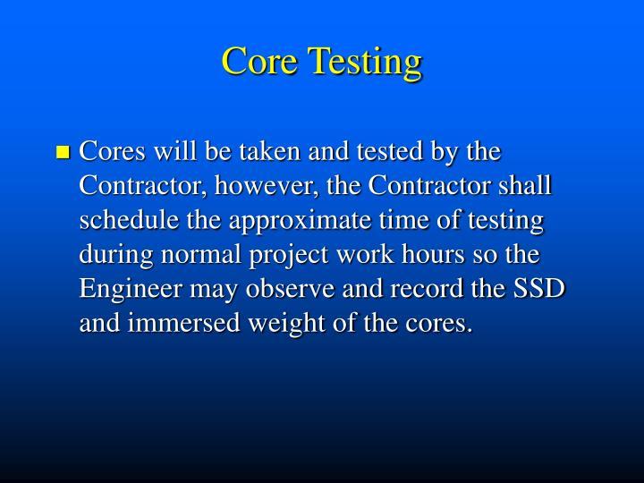 Core Testing