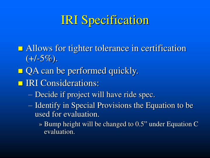 IRI Specification