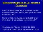 molecular diagnosis of ls toward a consensus