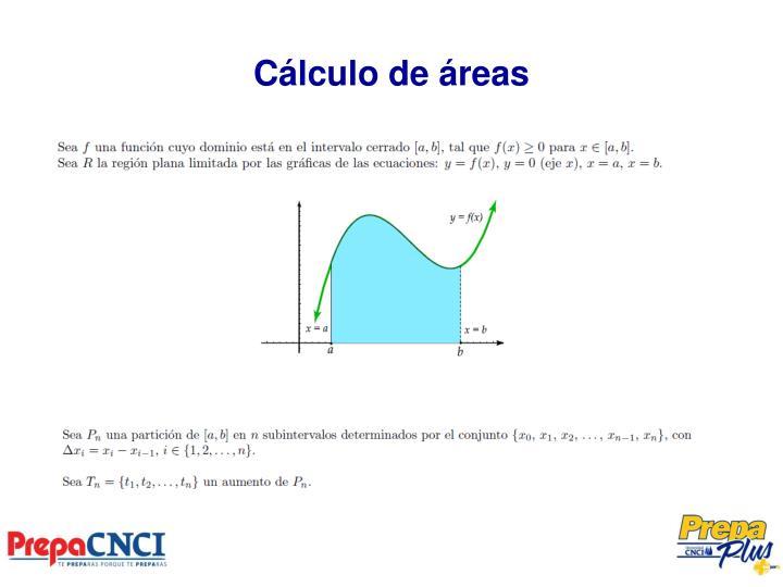 Cálculo de áreas