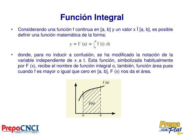 Función Integral
