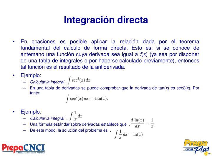 Integración directa
