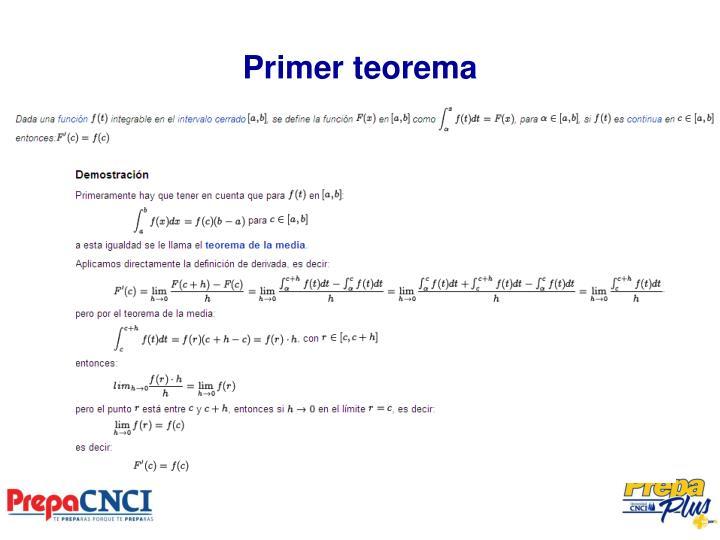 Primer teorema