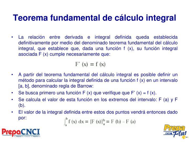 Teorema fundamental de cálculo integral