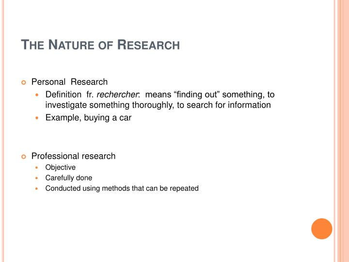 The Nature of Research