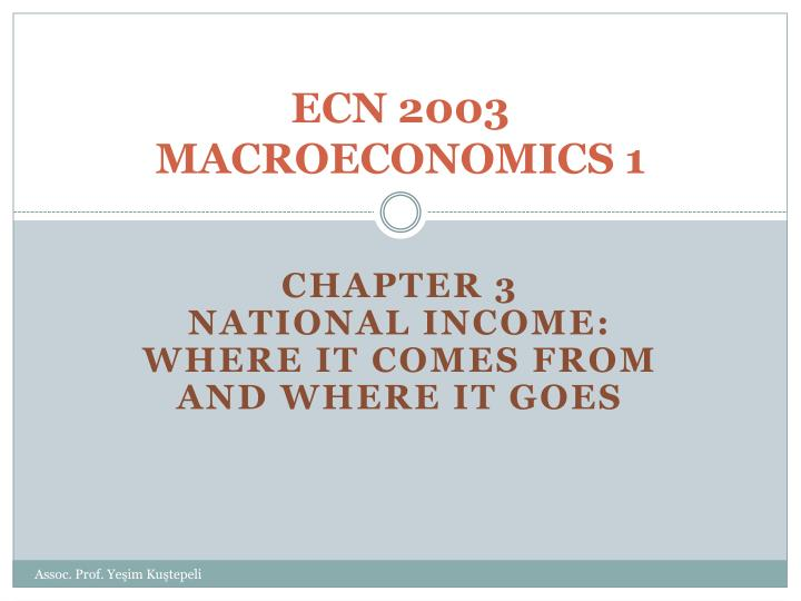 Ecn 2003 macroeconomics 1