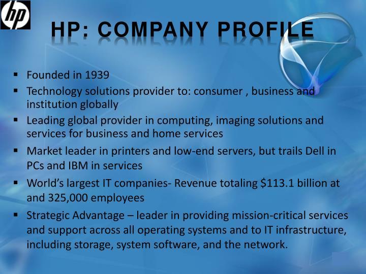 HP: company profile