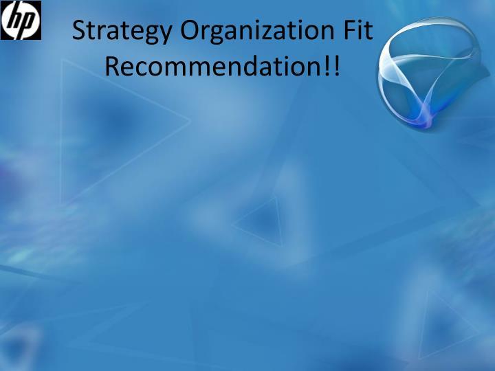 Strategy Organization Fit