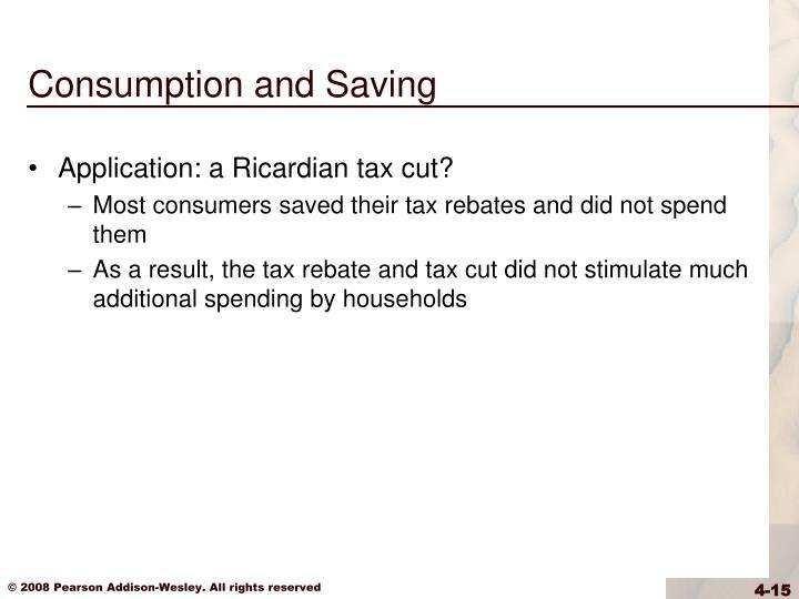 Consumption and Saving