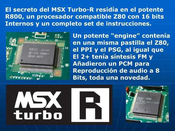 El secreto del MSX Turbo-R residía en el potente
