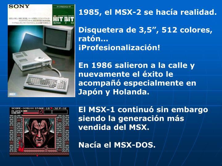 1985, el MSX-2 se hacía realidad.