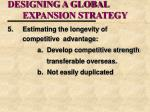 designing a global expansion strategy1