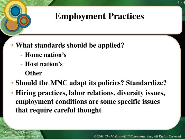 What standards should be applied?