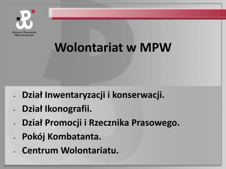 Wolontariat w MPW