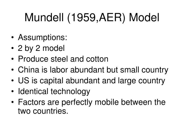 Mundell 1959 aer model