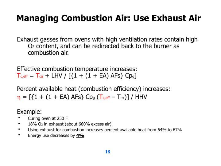 Managing Combustion Air: Use Exhaust Air