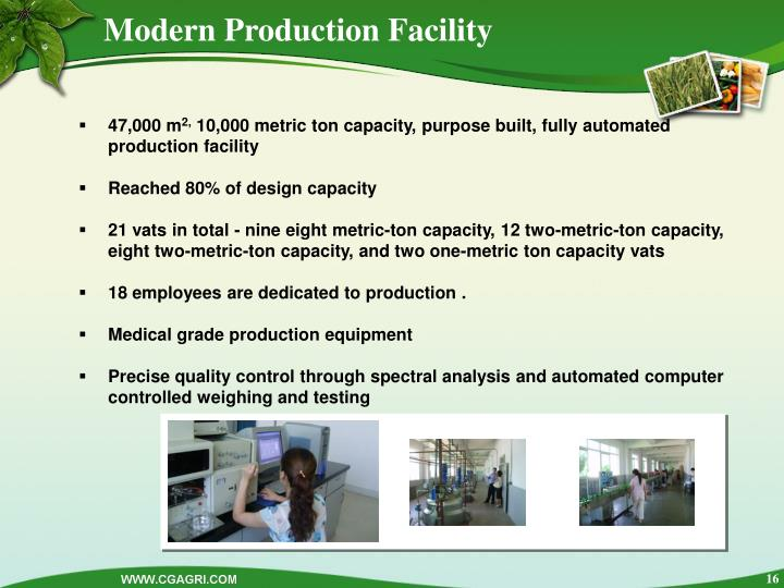 Modern Production Facility