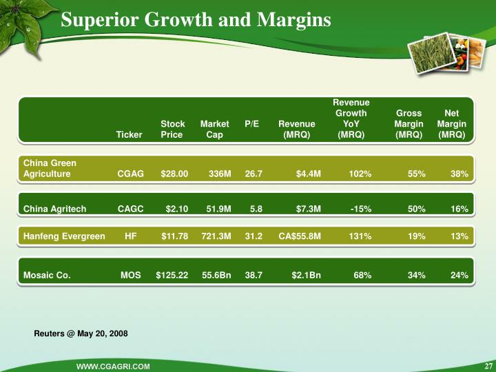 Superior Growth and Margins