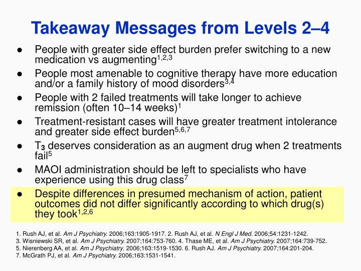 People with greater side effect burden prefer switching to a new medication vs augmenting