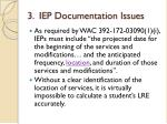 3 iep documentation issues