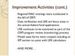 improvement activities cont