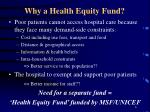 why a health equity fund