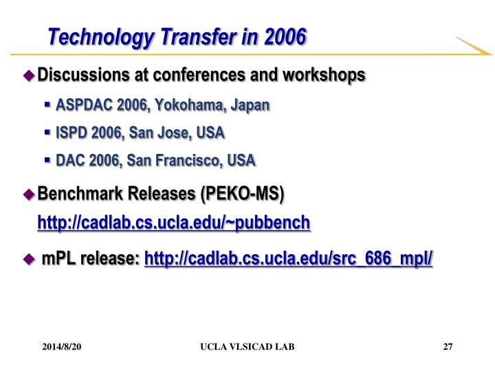 Technology Transfer in 2006