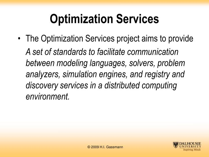 Optimization Services