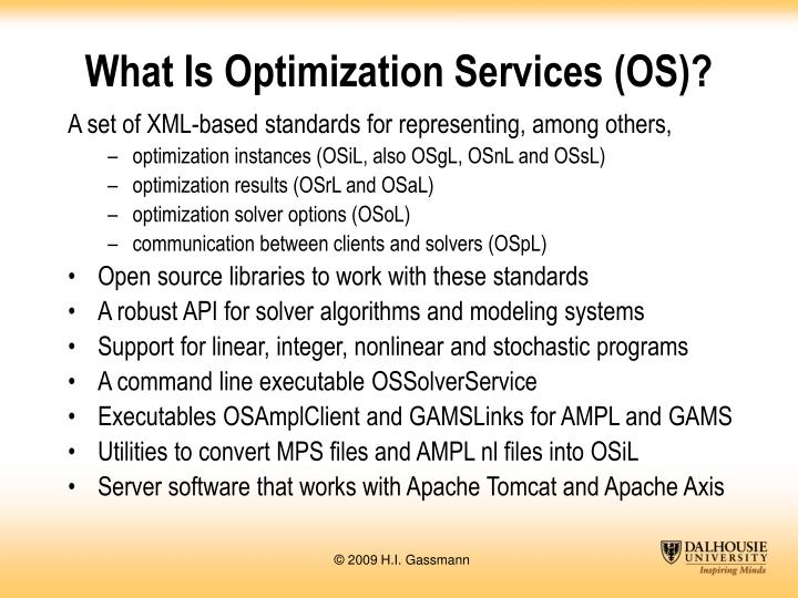What Is Optimization Services (OS)?