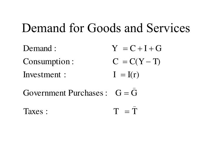 Demand for Goods and Services