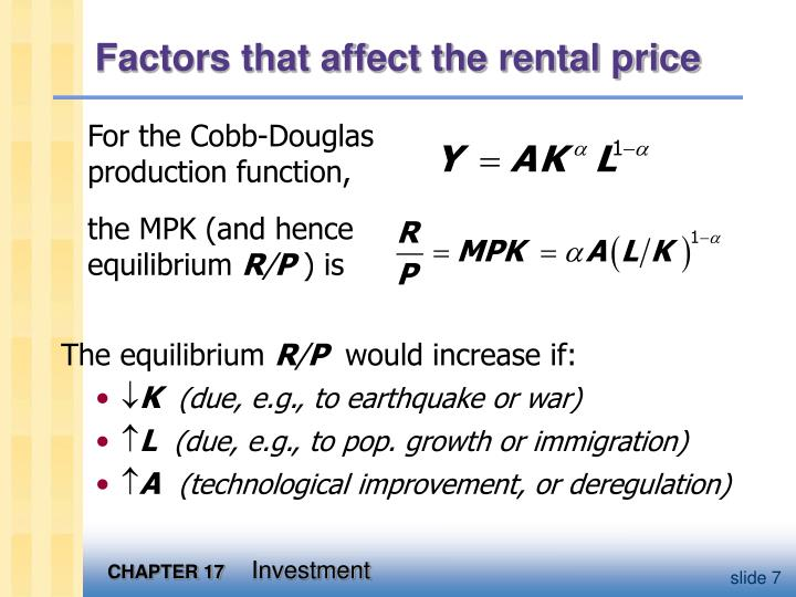 Factors that affect the rental price