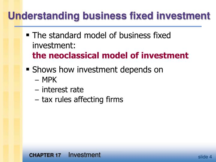 Understanding business fixed investment