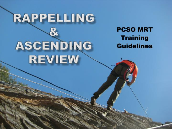 an introduction to the definition of rappelling and ascending