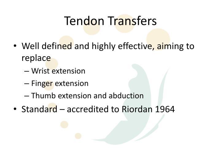Tendon Transfers