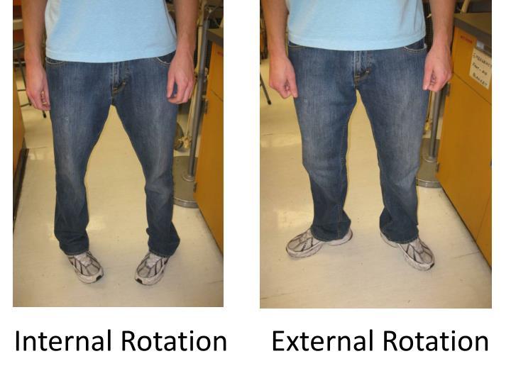 Internal Rotation      External Rotation