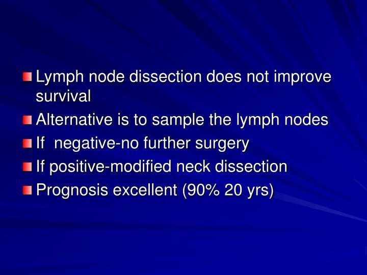Lymph node dissection does not improve survival