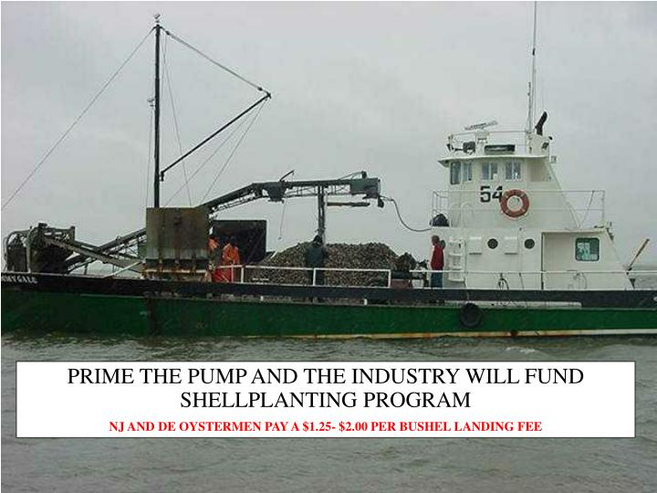 PRIME THE PUMP AND THE INDUSTRY WILL FUND SHELLPLANTING PROGRAM