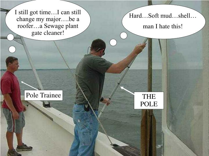 I still got time…I can still change my major….be a roofer…a Sewage plant gate cleaner!