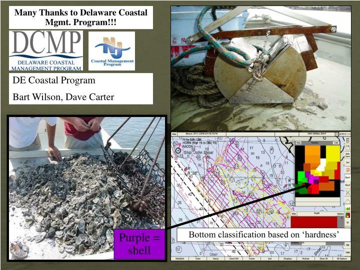 Many Thanks to Delaware Coastal Mgmt. Program!!!