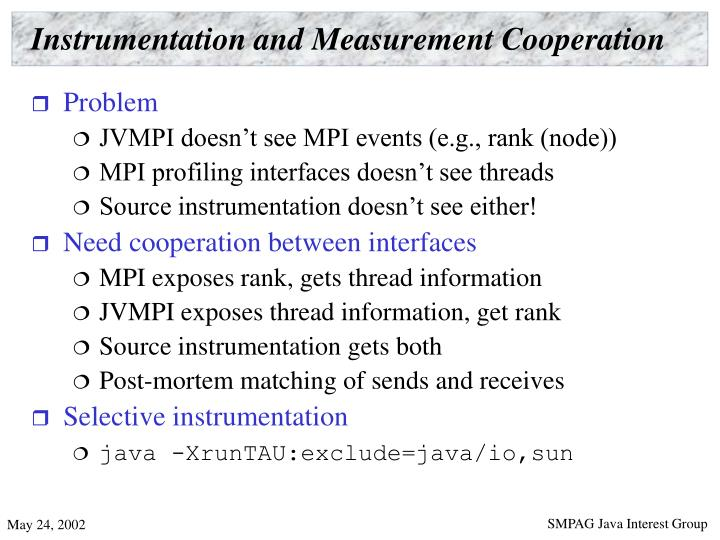 Instrumentation and Measurement Cooperation
