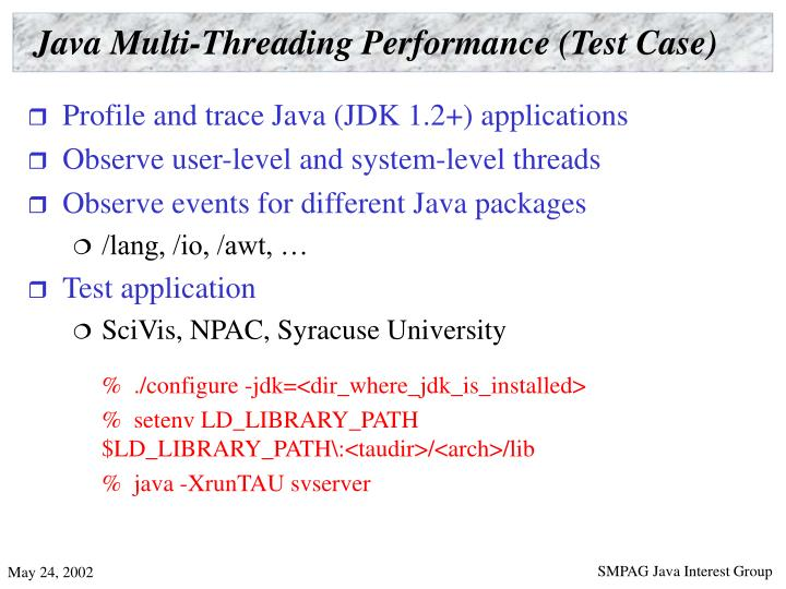 Java Multi-Threading Performance (Test Case)