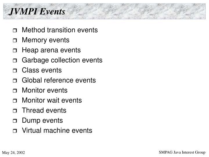 JVMPI Events