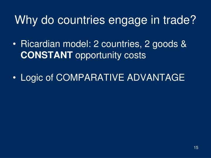 Why do countries engage in trade?