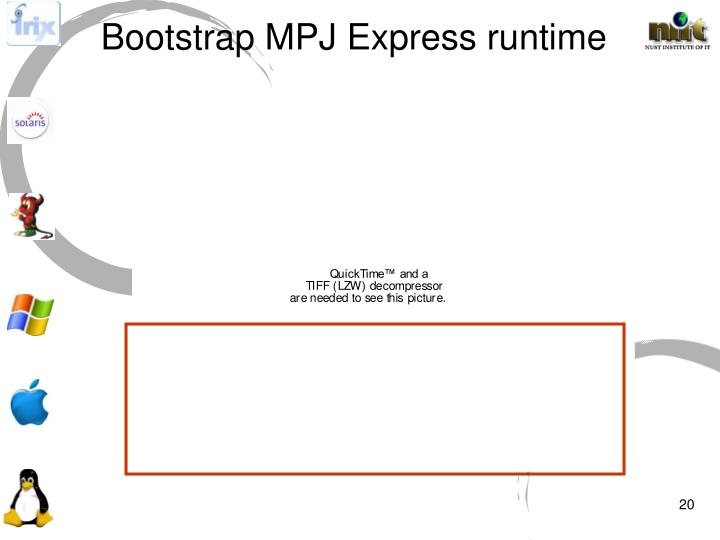 Bootstrap MPJ Express runtime