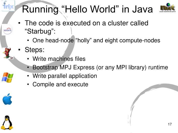 """Running """"Hello World"""" in Java"""