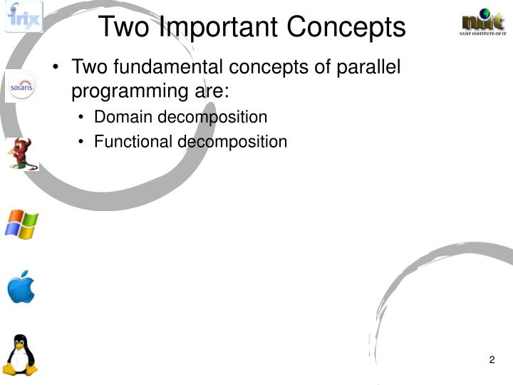 Two important concepts