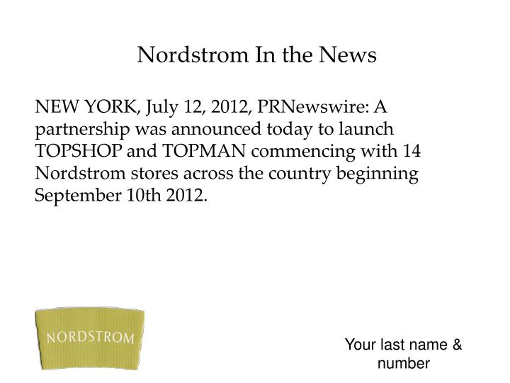 Nordstrom In the News
