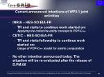 current announced intentions of wp3 1 joint activities