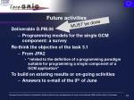 future activities