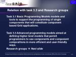 relation with task 3 3 and research groups